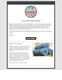 June 2018 Yoga with Christy Newsletter